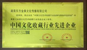 中国文化收藏行业先进单位