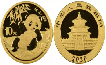 最小的熊猫金币
